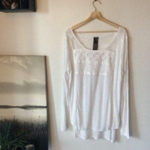 Free People New Romantics Embroidered Top